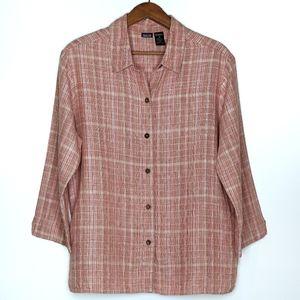 Patagonia   Hemp Plaid Button Down Tunic Shirt